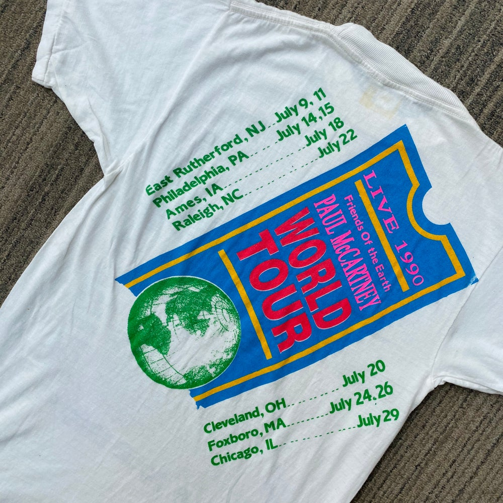 Image of Vintage 1990 Paul McCartney World Tour Tee