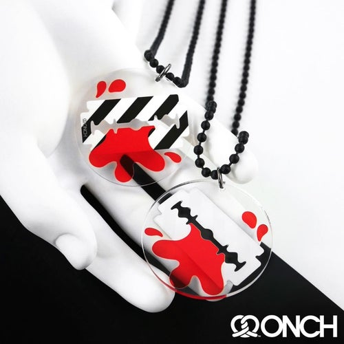 Image of Bloody Razor Necklace