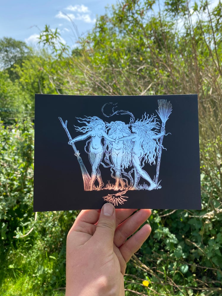 Image of Coven foil prints