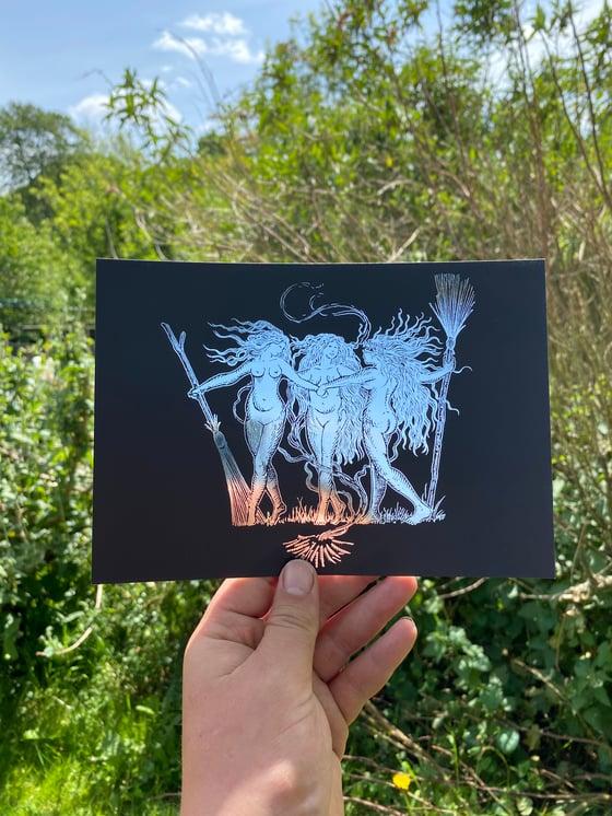 Image of Coven foil prints