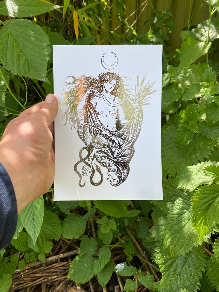 Image of Maiden and the hag. foil prints