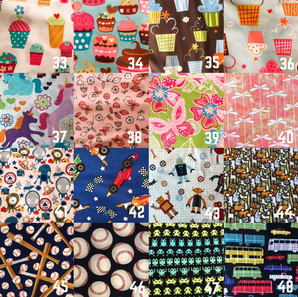 Image of Kids Age 3-6 Fabric Mask (Fabrics 1-64)