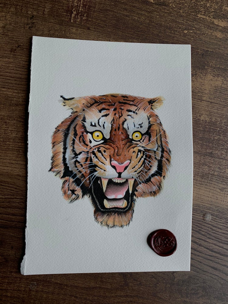 Image of Tiger head PRINT