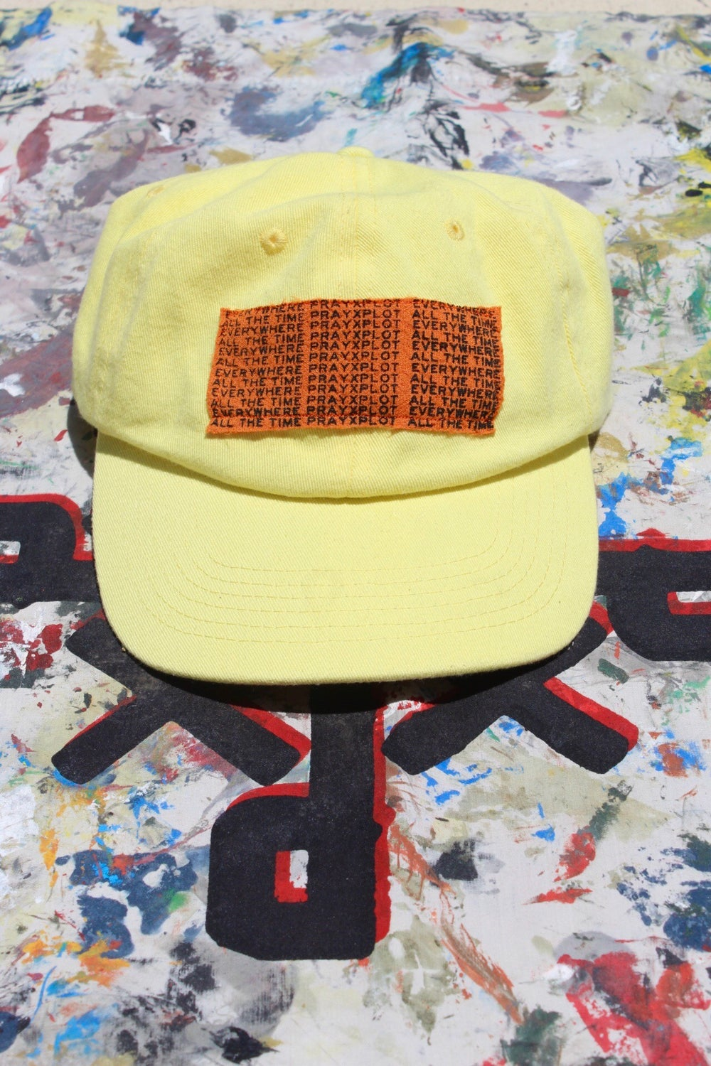 e.w.a.t. hat in yellow