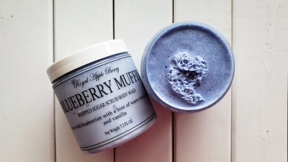 Image of BLUEBERRY MUFFIN WHIPPED SUGAR SCRUB BODY WASH