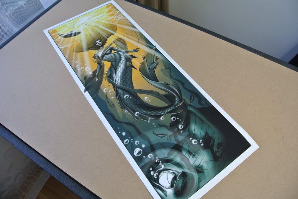 Image of Mermaid Print by Artist @mattat__