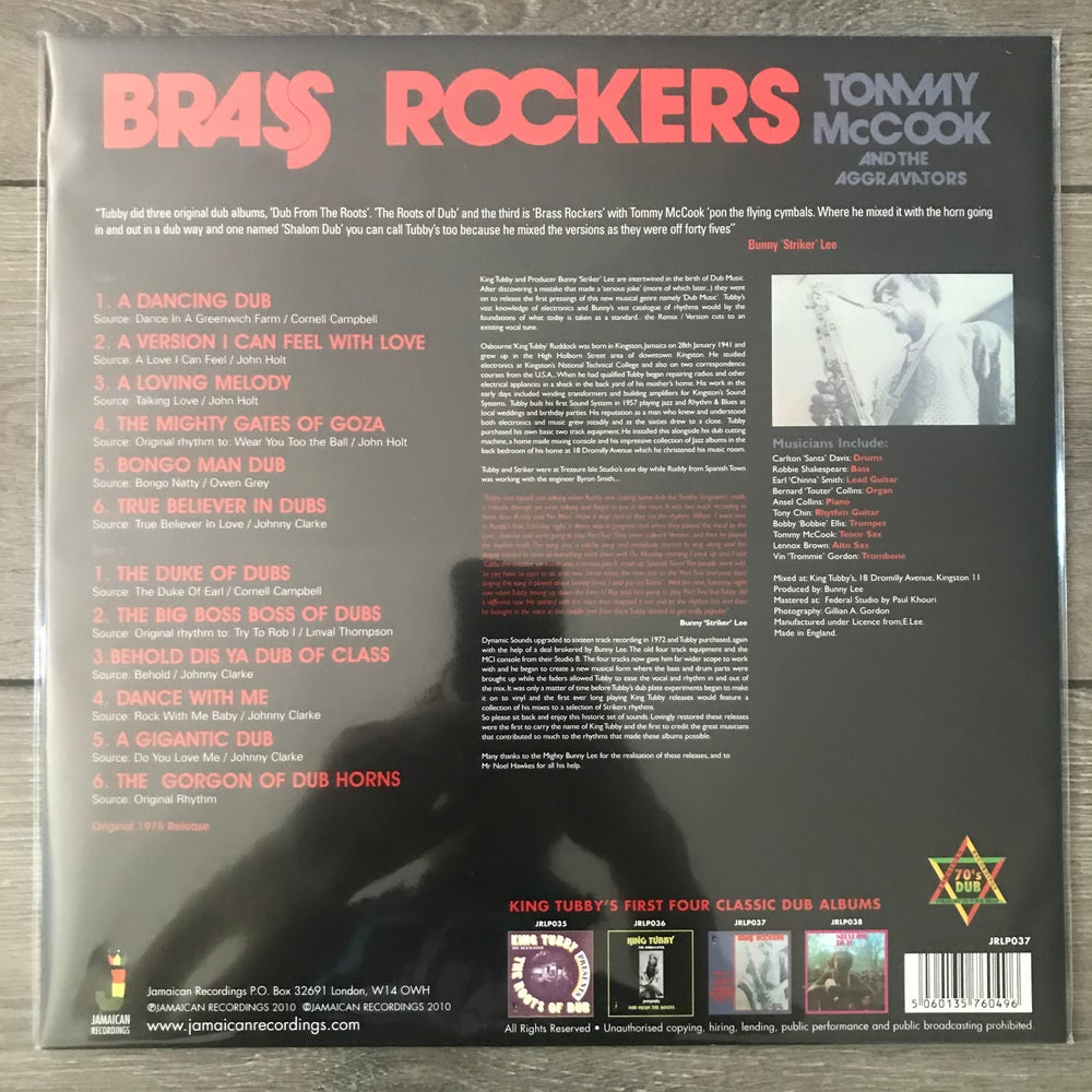 Image of Bunny Lee & King Tubby Present Tommy McCook And The Aggravators* - Brass Rockers Vinyl LP