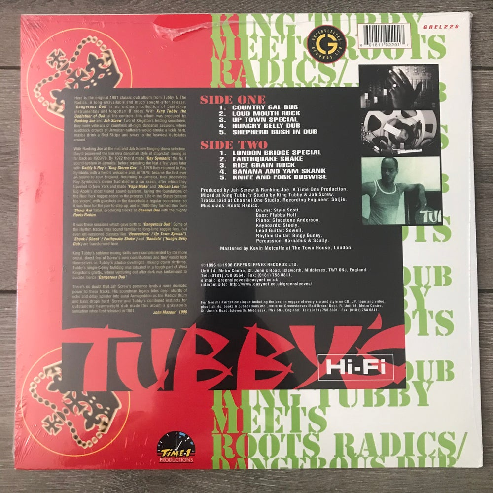 Image of King Tubby Meets Roots Radics* ‎– Dangerous Dub Vinyl LP