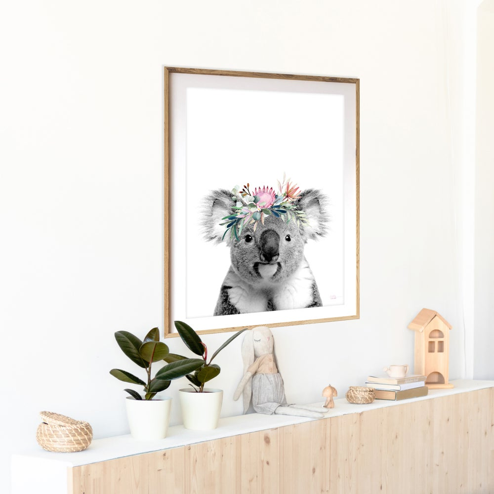 Image of Karen Koala / Grey - Art Print