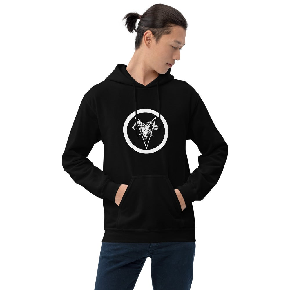 Image of Le Bouc Des Légions Version 4 and Black Legions Circle's Seal Hooded Sweatshirt