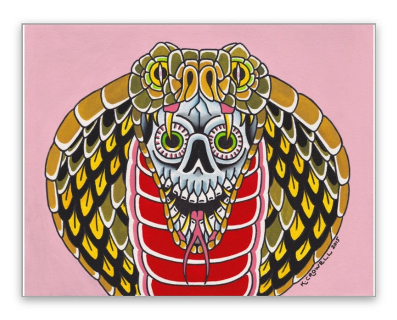 Image of Cobra skull print