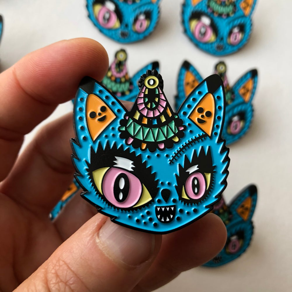 Image of Carnival cat , new enamel pin's