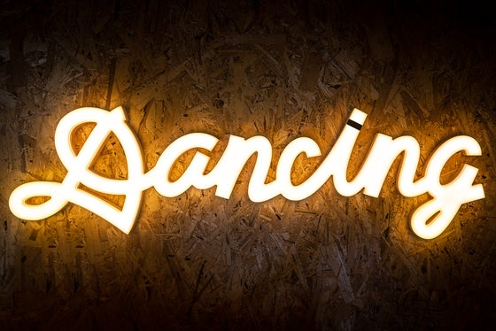Image of 'Dancing' LED sign