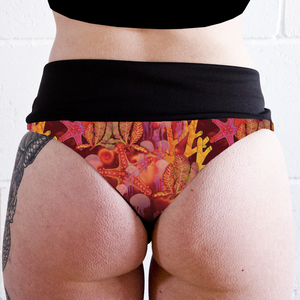 Image of Coral Reef High Waisted Twerk Thong Shorts