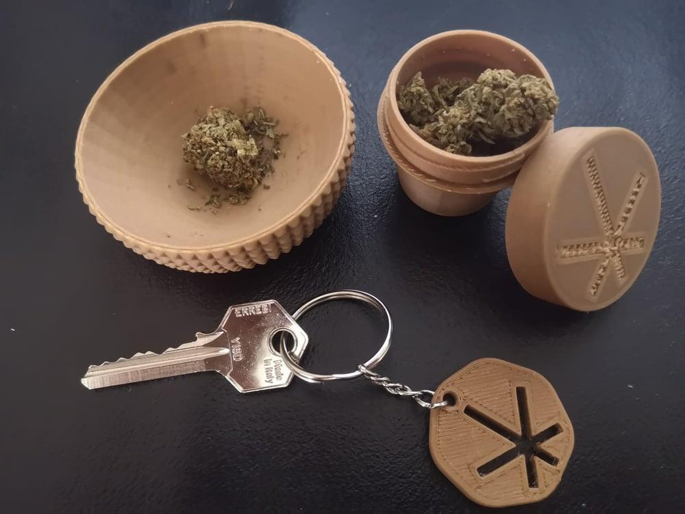 Image of Kit oggetti in bio-plastica di Canapa