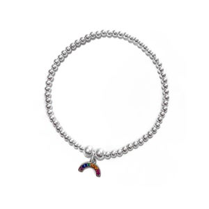 Image of Sterling Silver Rainbow Charm Bracelet