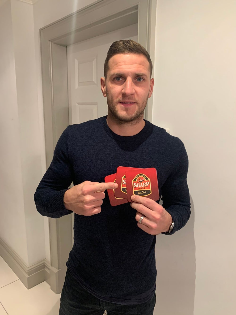 Billy Sharp Beermats