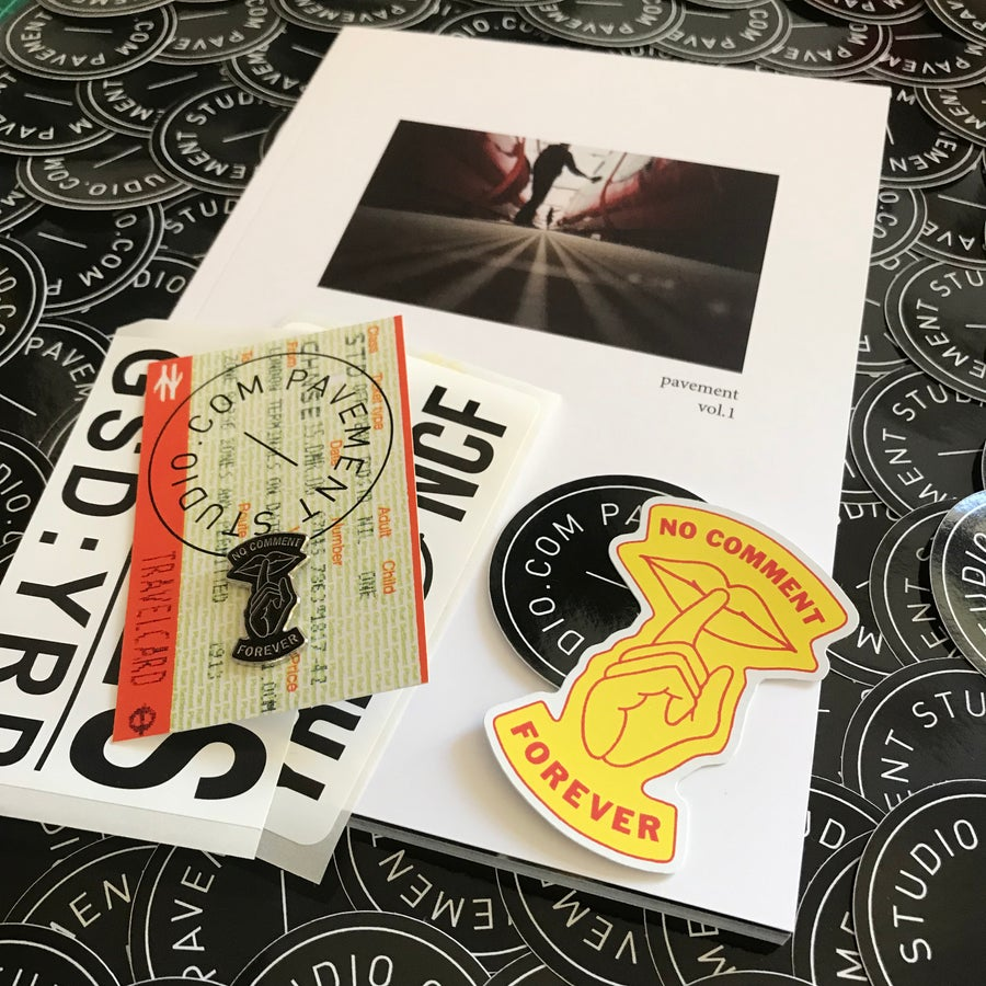 Image of No Comment Pin & Pavement Zine Pack