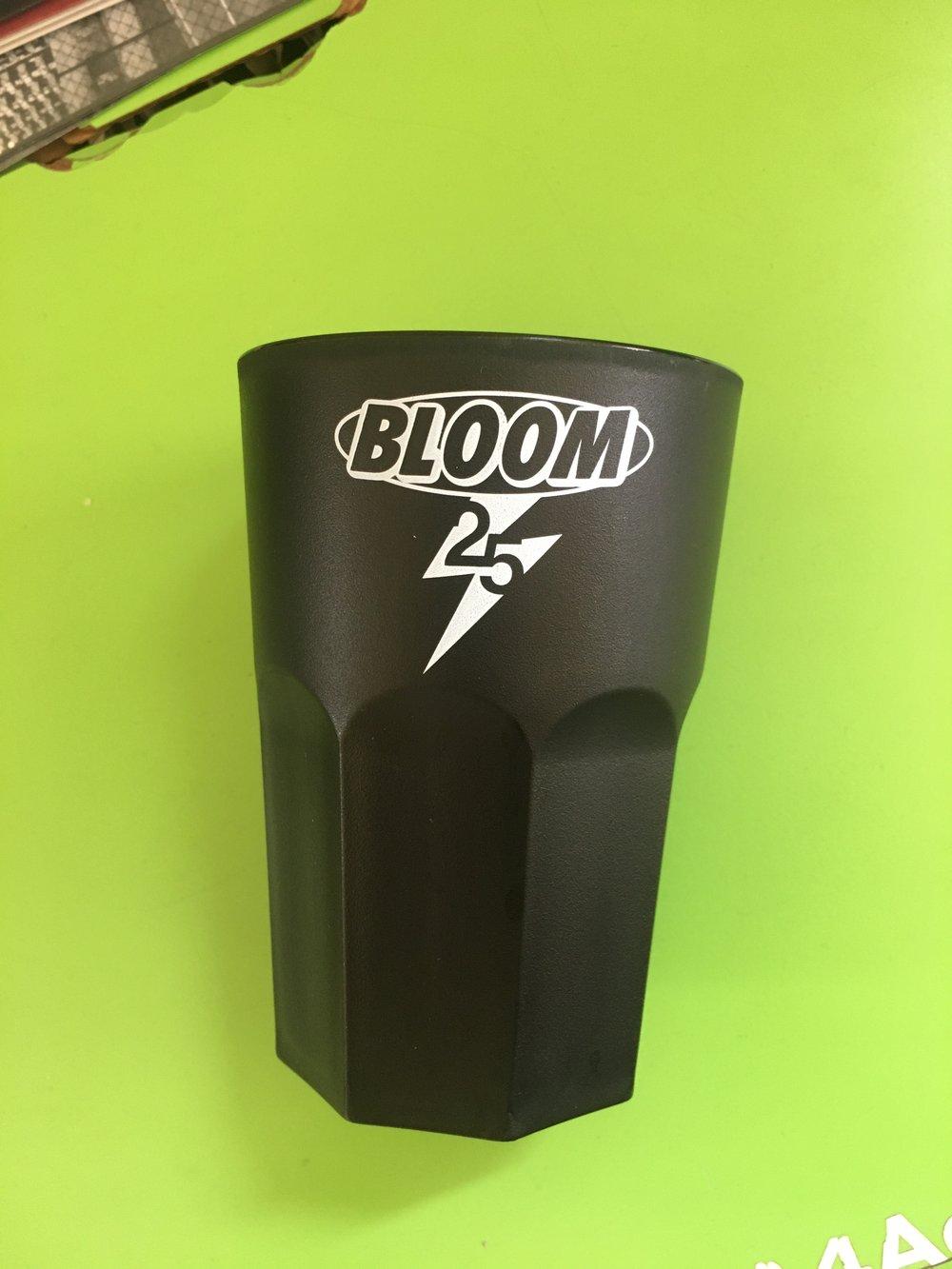Bicchieri logo Bloom set da 4 (Nero)