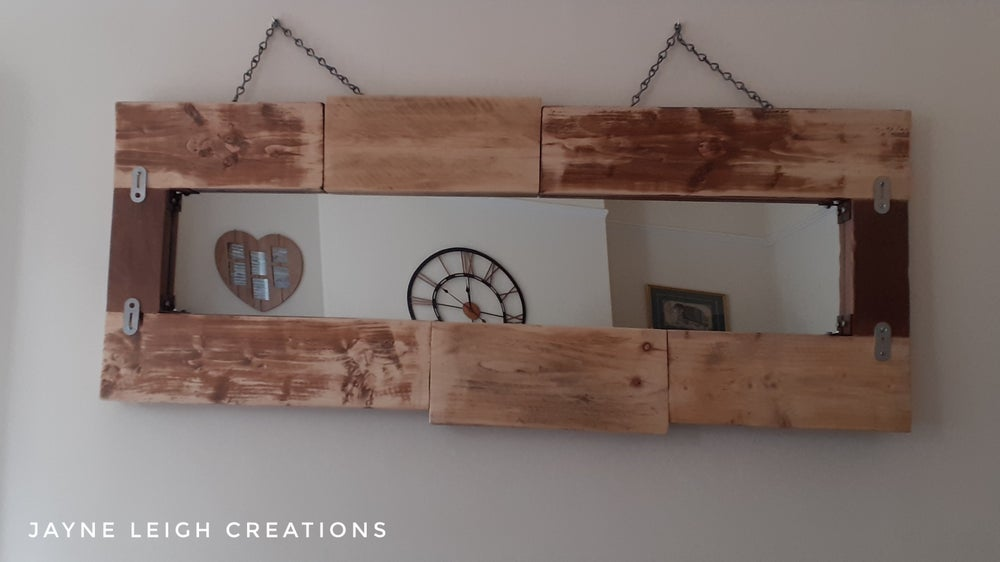Image of Large Rustic Mirror