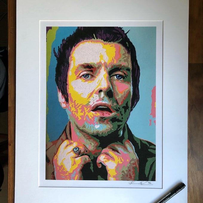 Image of Liam Gallagher Print