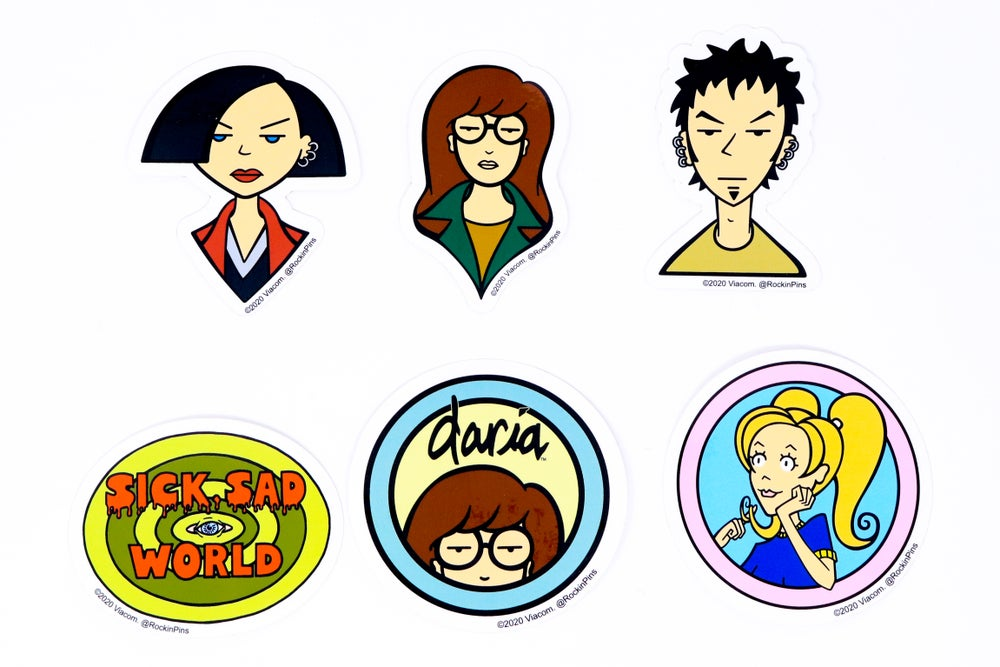Image of Daria - Vinyl Decal Sticker Packs
