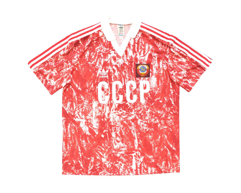 Image of 1989-91 Adidas Soviet Union Home Shirt L