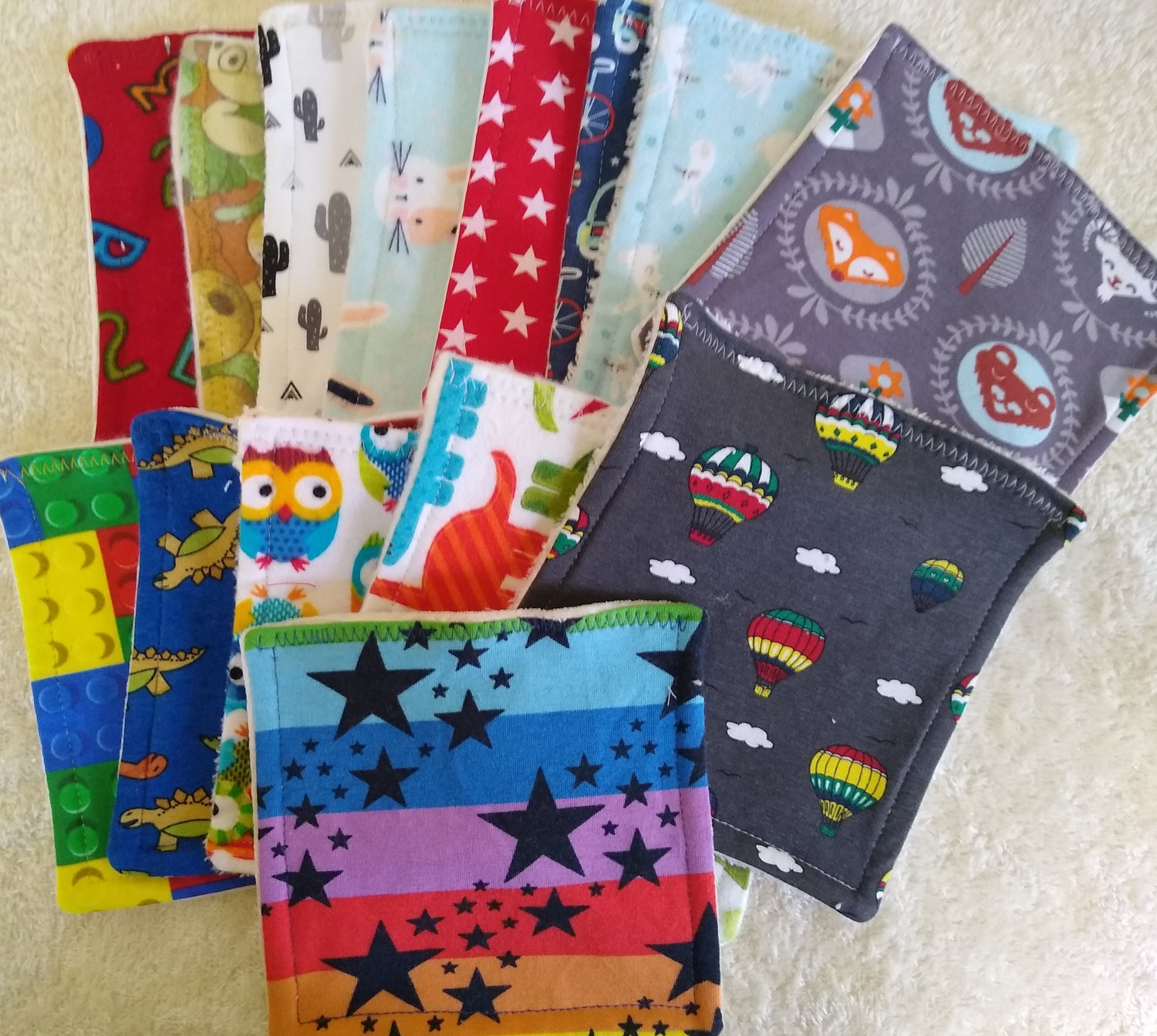 Image of Pack of 6 Cloth Wipes Reusable/Washable
