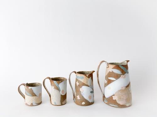 Image of Desert Sand, Peach Flowers and Sage Leaves - Tall Mug