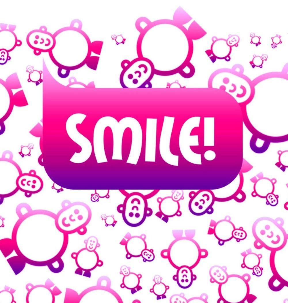 Womens Mr Smileyman Pink Pattern T-Shirt