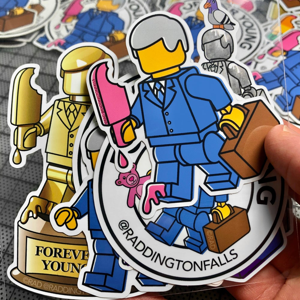 Forever Young Stickers 7 Pack - Free Shipping