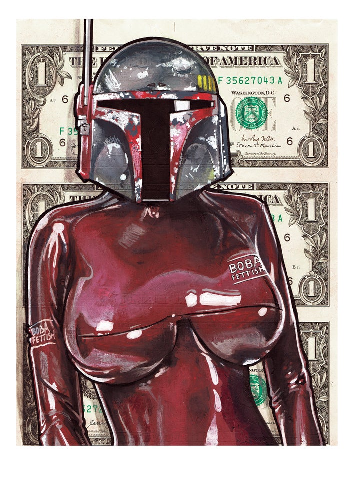 Image of Boba Fettish limited matte archival print.