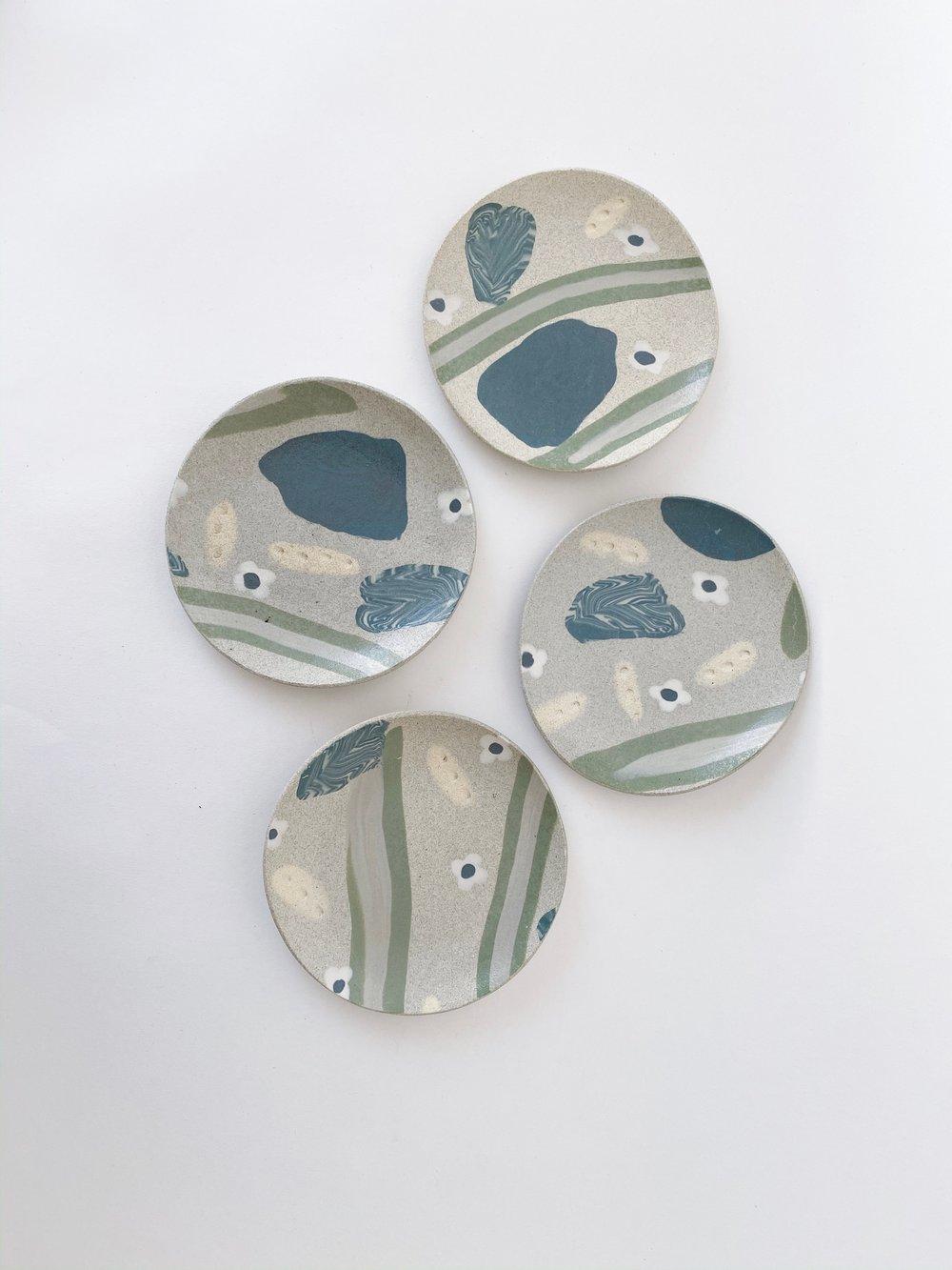 """Image of Granite Garden  - 6"""" Desert Plate"""