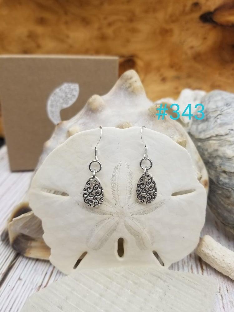 Image of Fine Silver- Handmade- Earrings- # 343