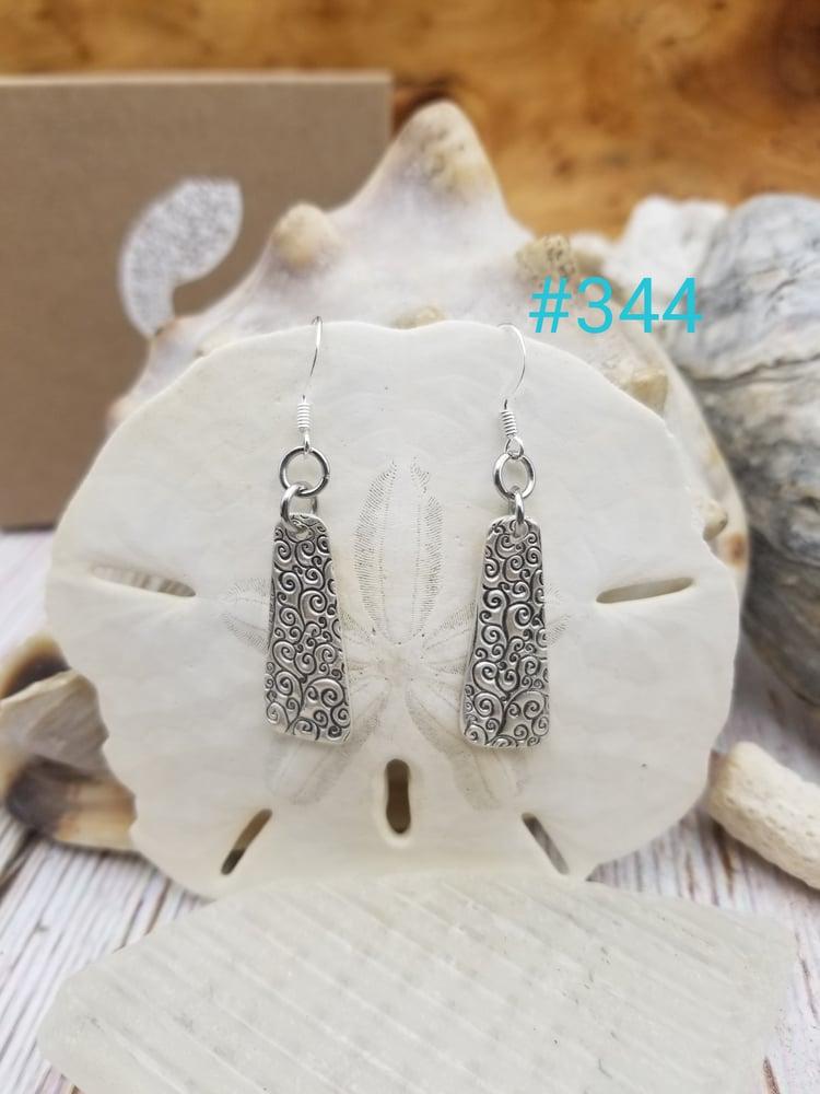 Image of Fine Silver- Handmade- Earrings- #344