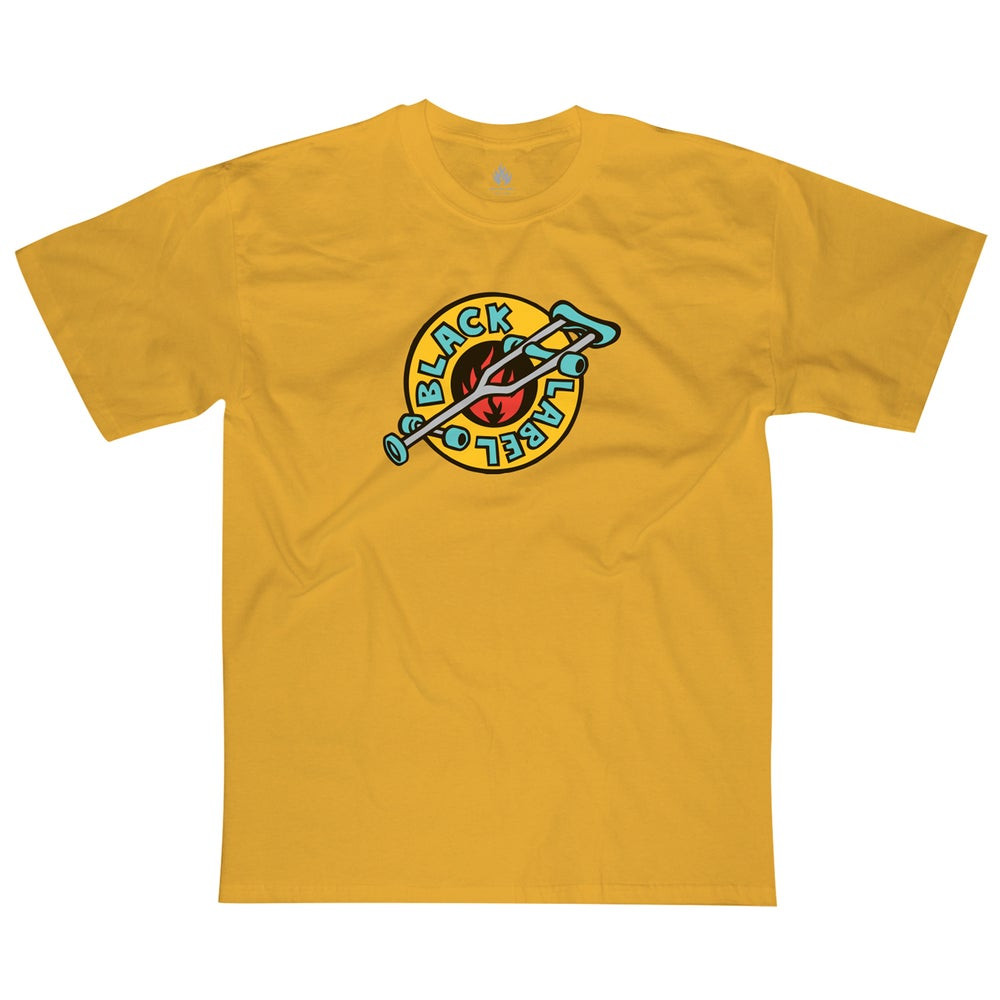 "Image of ""OG Crutch"" Short Sleeve Tee Yellow"