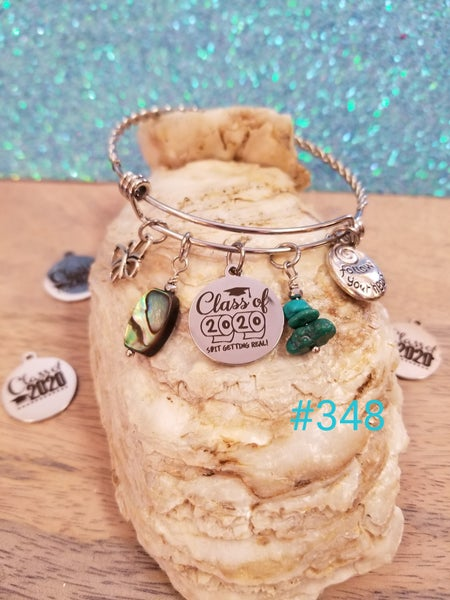 Image of Class of 2020- Adjustable Bangle- #348