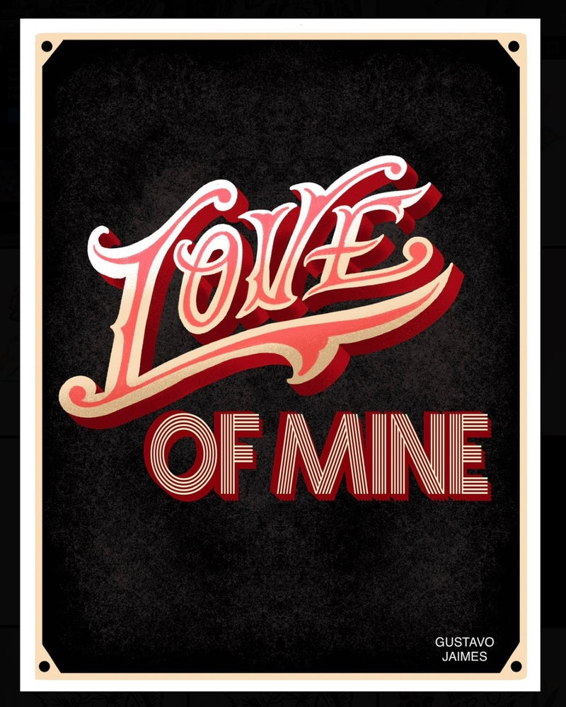 "Image of ""Love Of Mine"" 8.5x11 inch print"