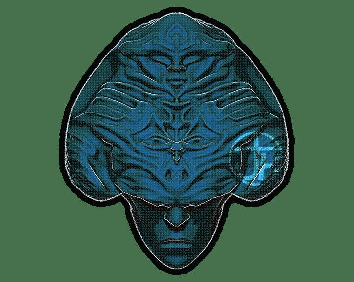 The Priestess - Magnet Aqua