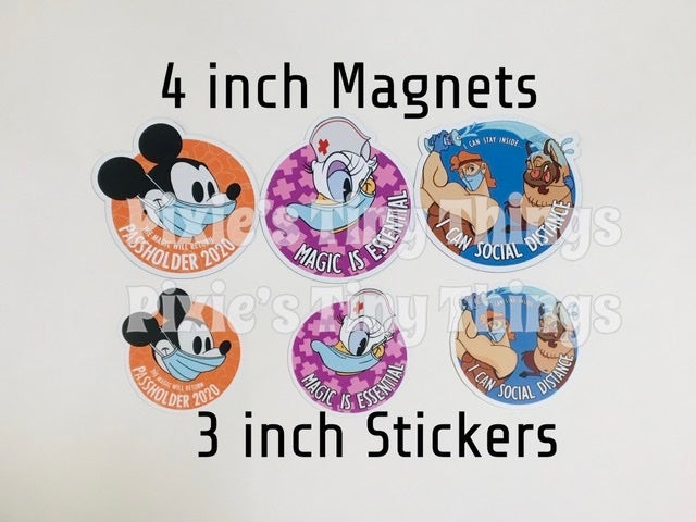 Image of Pandemic Magnets and Stickers