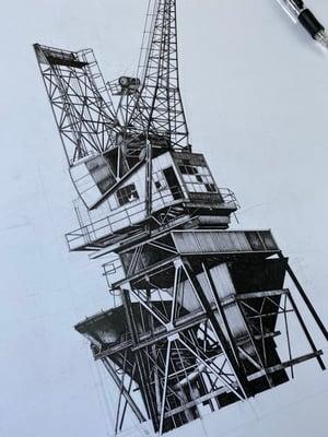 Image of Coal Crane (ORIGINAL)