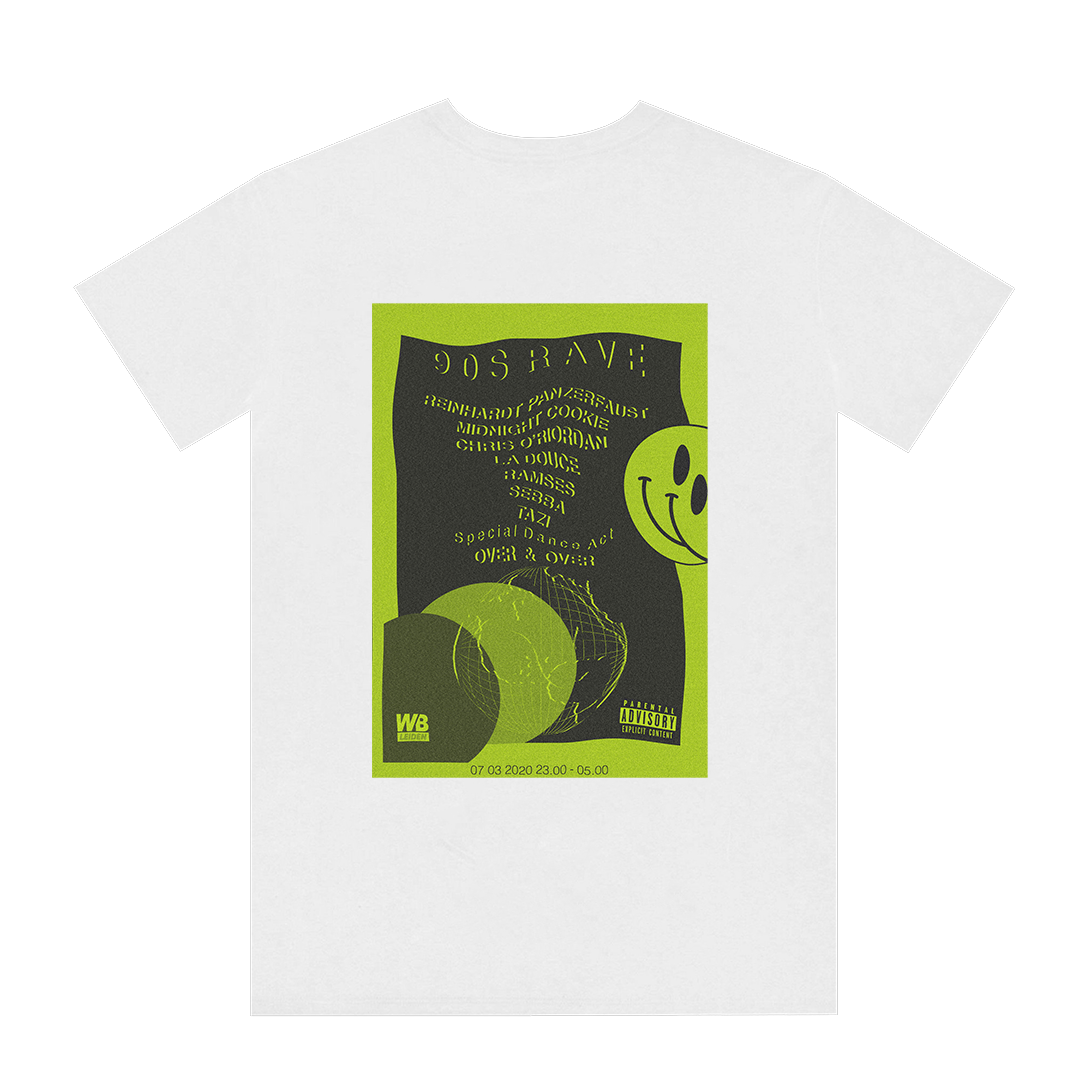 Wibar 90's Rave t-shirt (green)