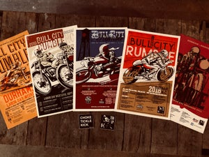 Image of Bull City Rumble 5 Poster 2 Sticker Package