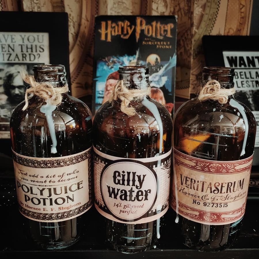 Image of Harry Potter Potion Decor Bottles