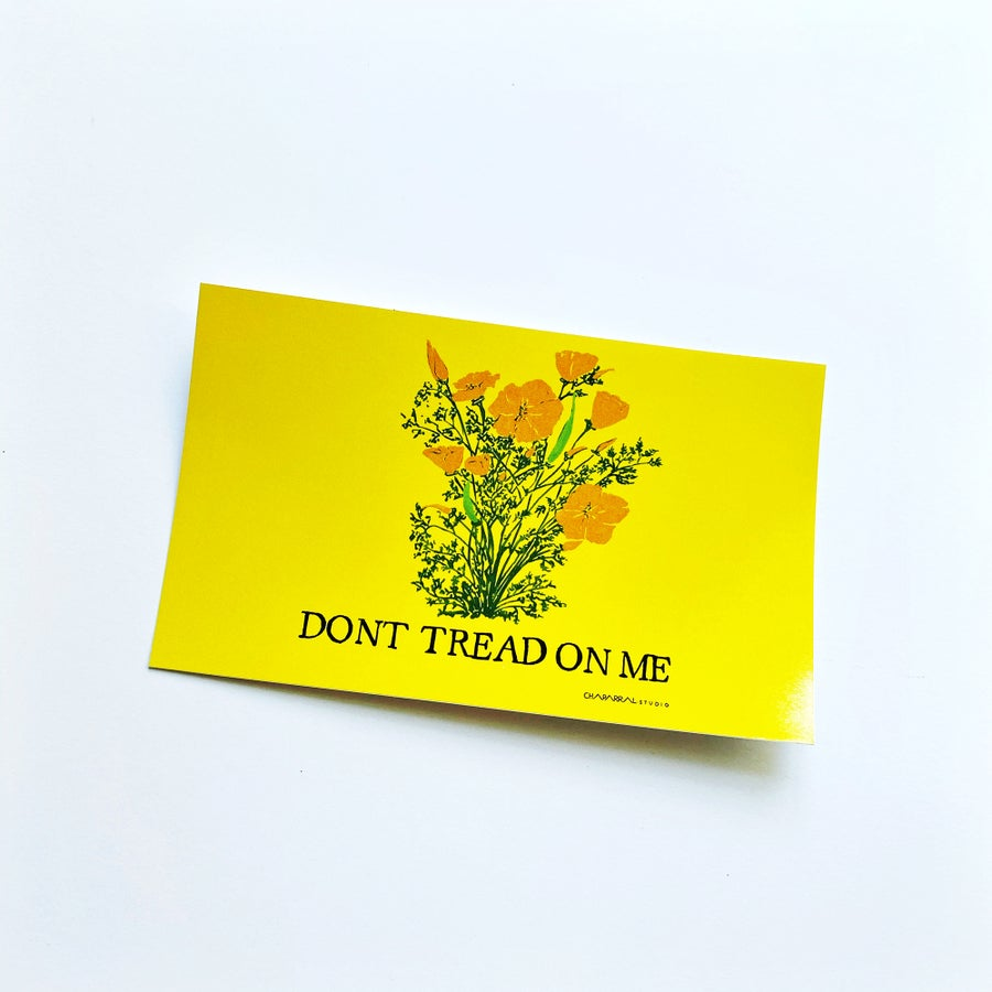 Image of DONT TREAD ON ME CALIFORNIA POPPIES - Sticker