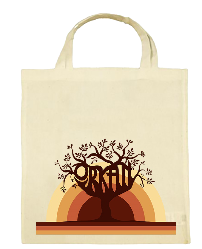 Orkan - Sunset Tree Tote Bag (White)