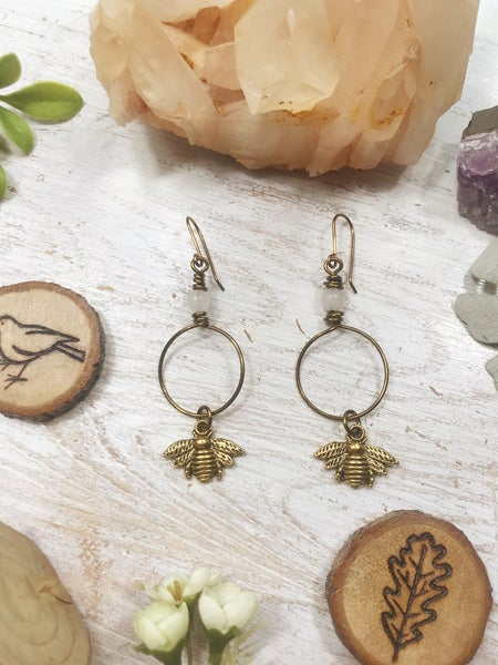 Image of Bronze Bee earrings