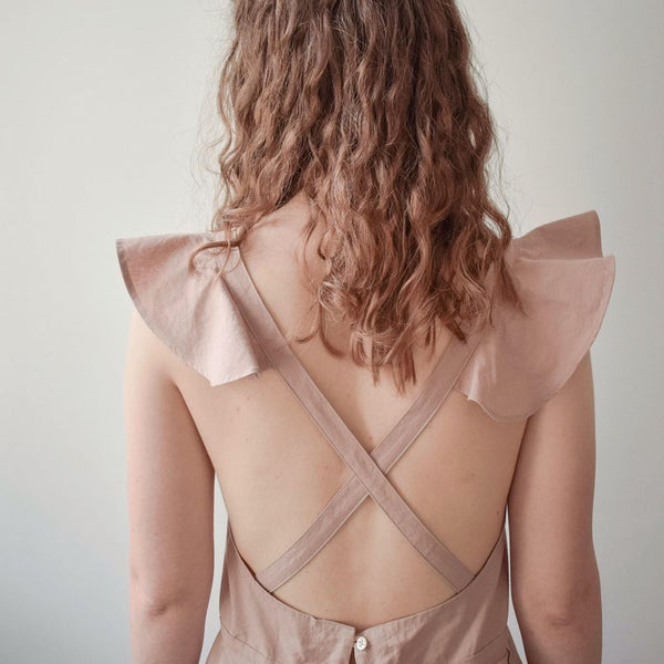 Image of ETELKA Cotton Cross-back summer dress