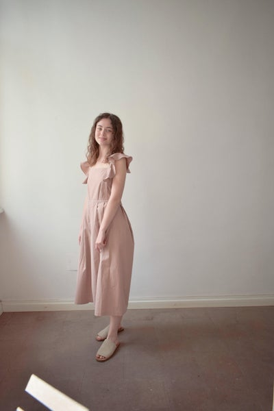 Image of ETELKA Cotton Cross-back summer dress