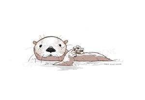 Otter Delight print